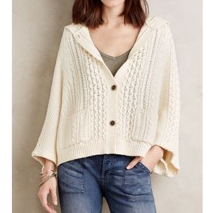 Anthropologie Oversized Hooded Cardigan Sz M/L